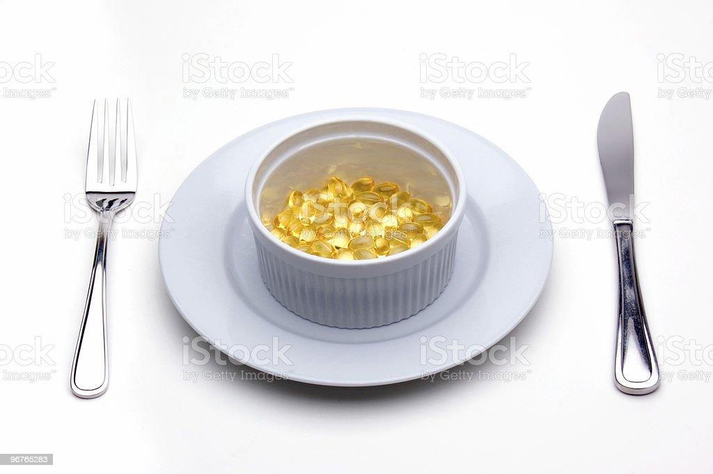 Vitamin E (Tocopherol) Lunch stock photo