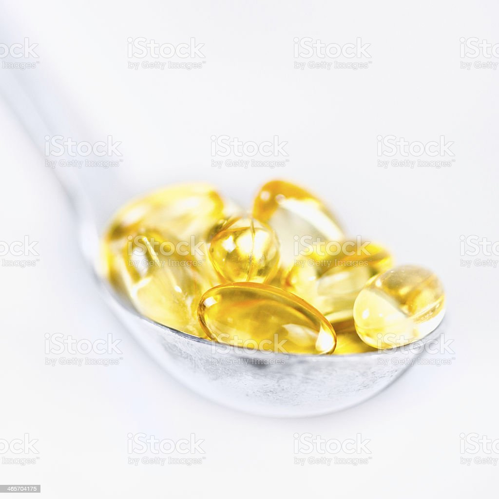 Vitamin E softgels royalty-free stock photo