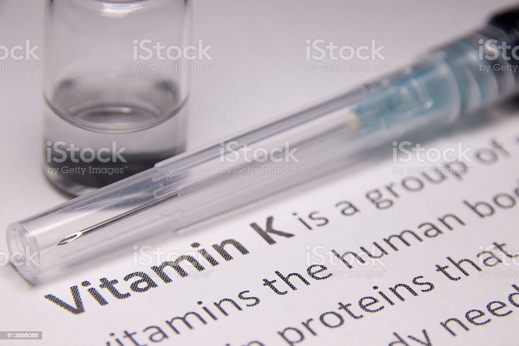 Vitamin K Injection stock photo