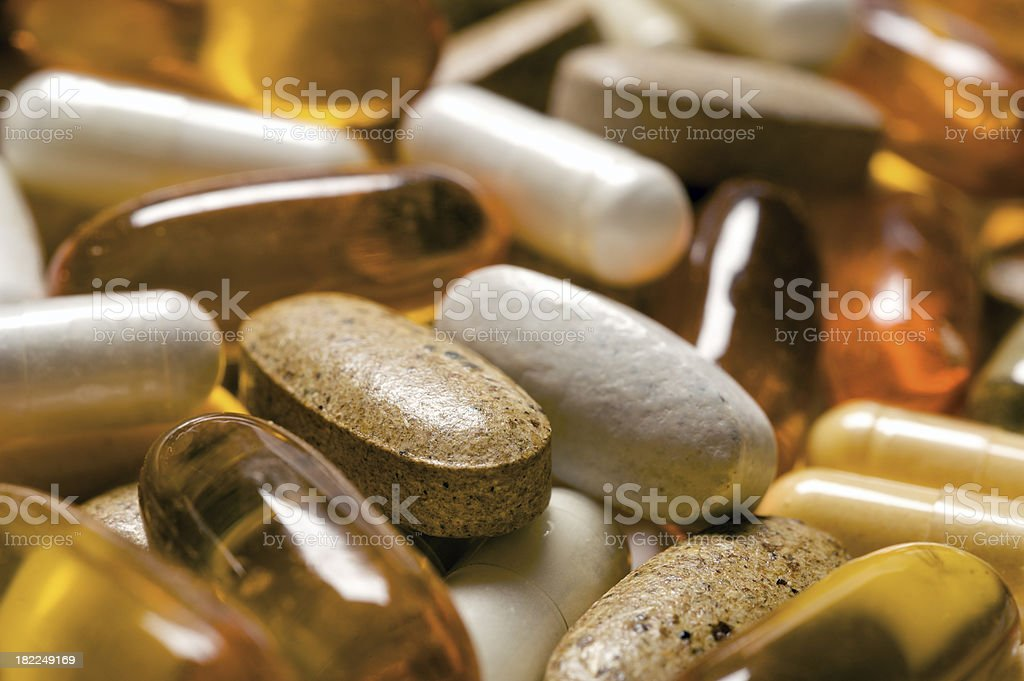 Vitamin Pills stock photo