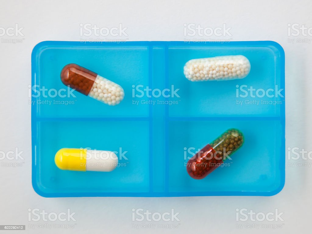 Vitamin supplement stock photo