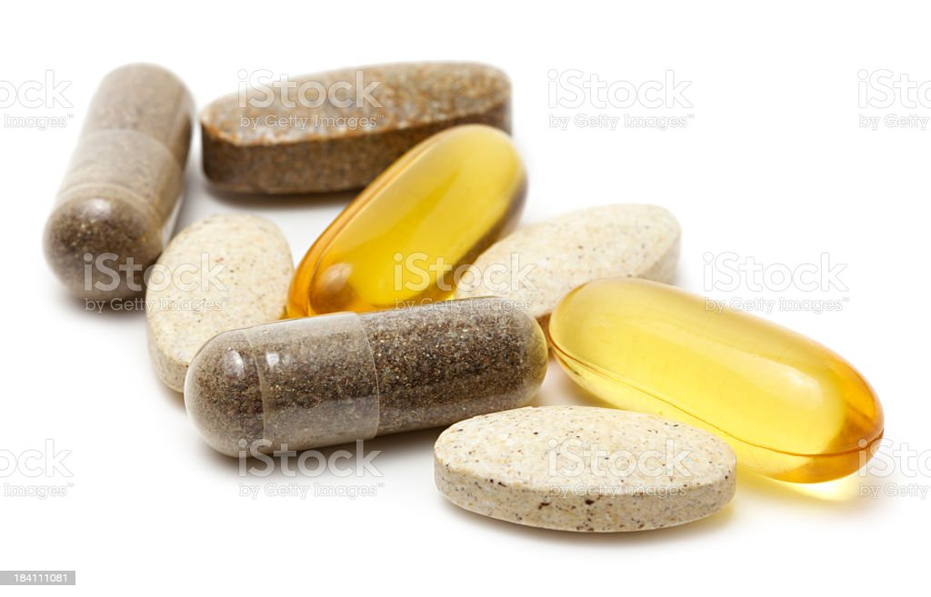 Vitamin supplements stock photo