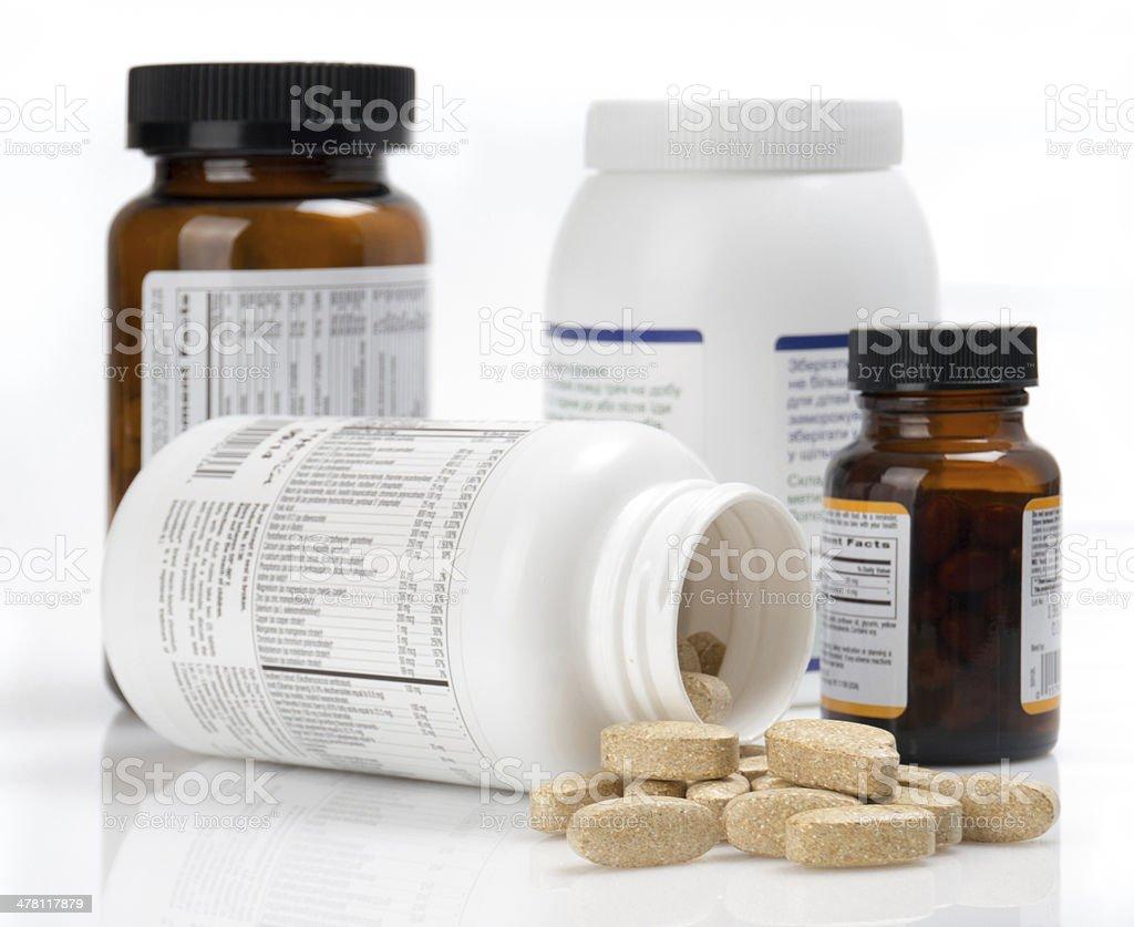 vitamin tablets stock photo