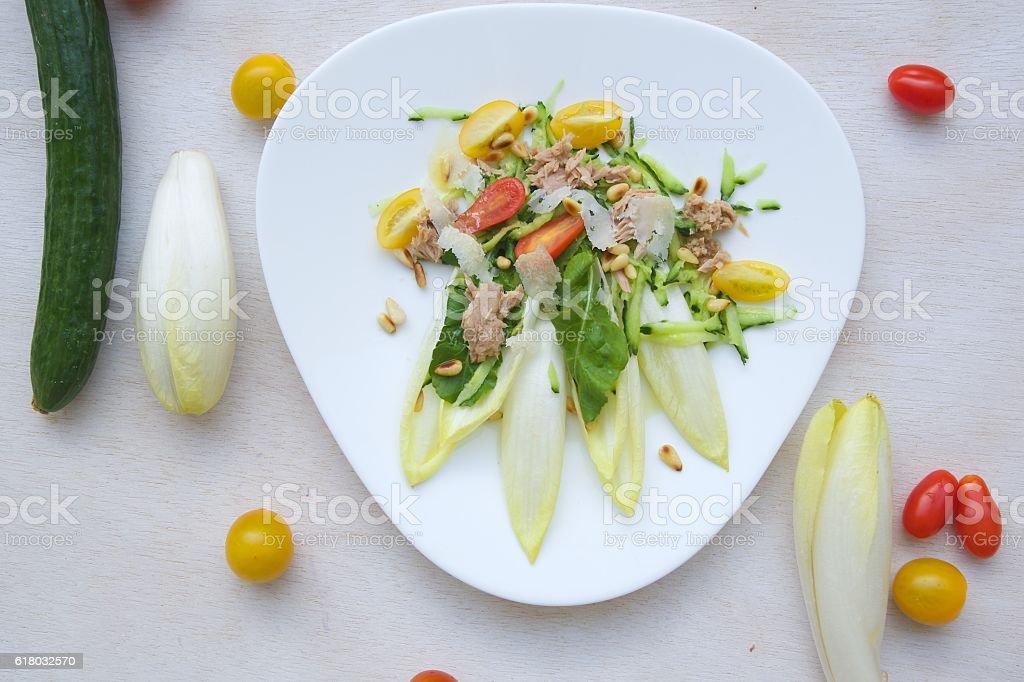 Vitamin winter salad stock photo