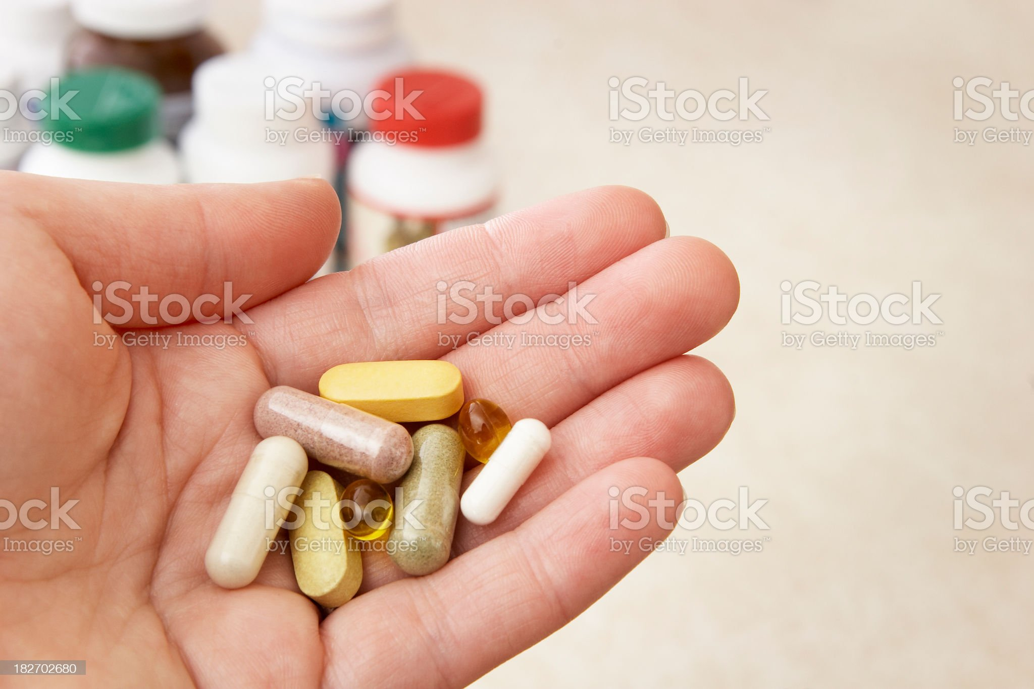 Vitamins and Natural remedies royalty-free stock photo