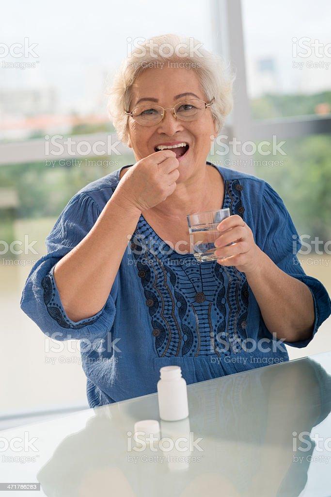 Vitamins for seniors royalty-free stock photo