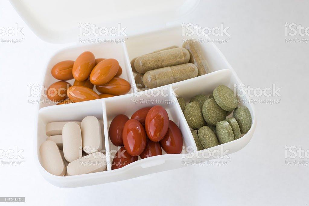 Vitamins in travel pak royalty-free stock photo