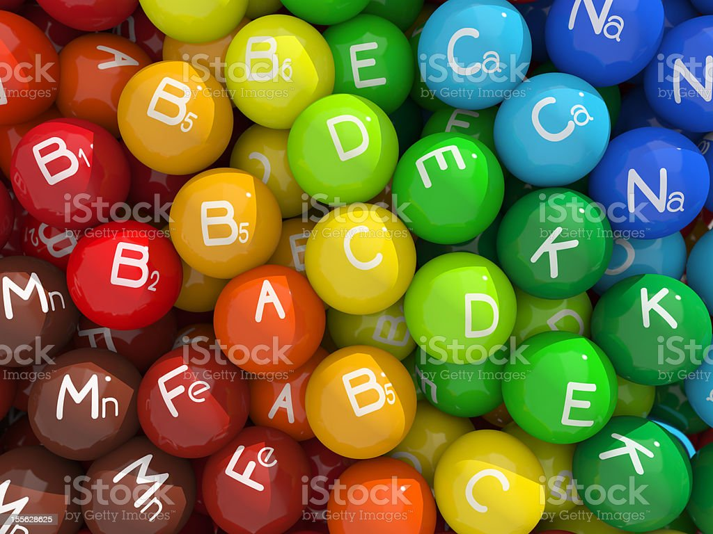 Vitamins & minerals stock photo