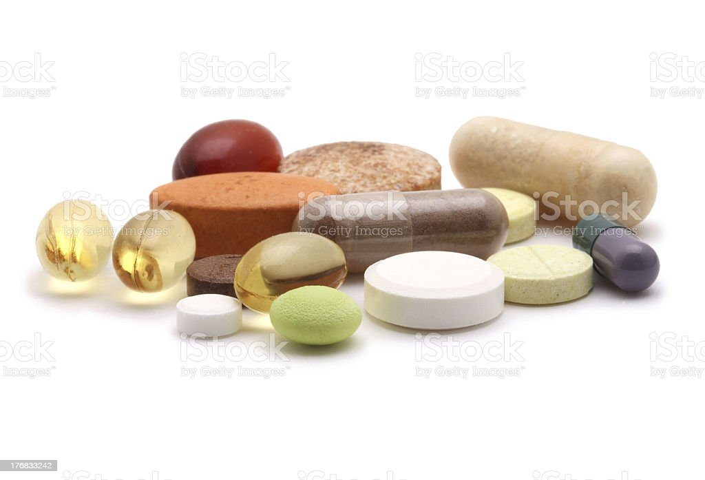 'vitamins, pills and tablets' stock photo