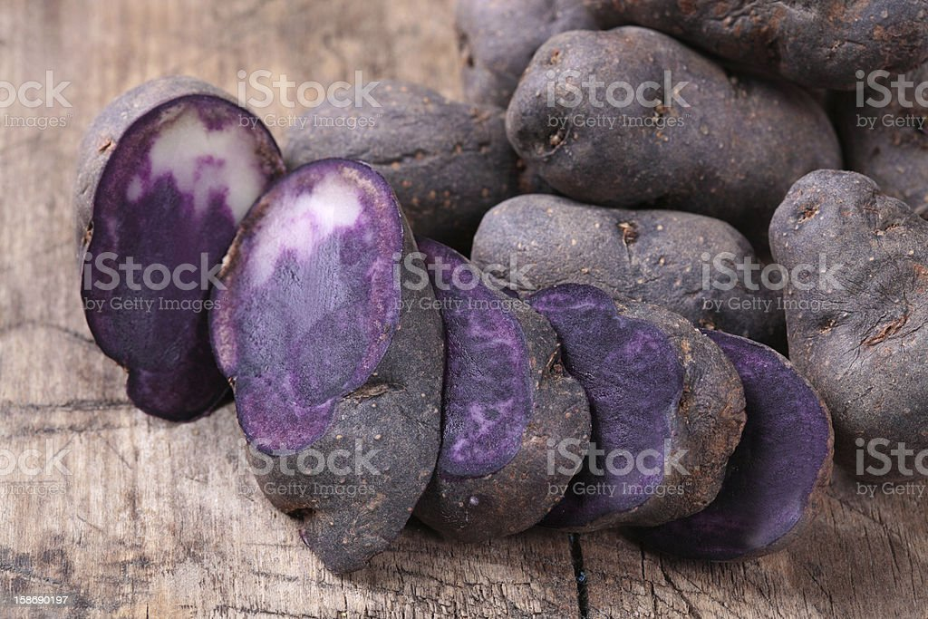 Vitelotte royalty-free stock photo