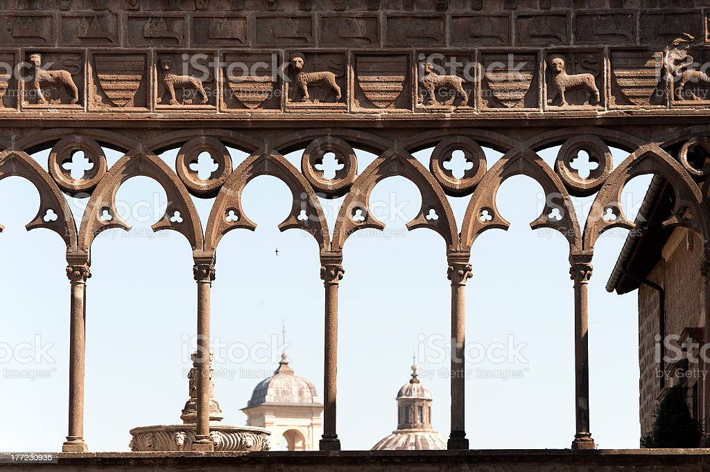 Viterbo, Palace of the Popes stock photo