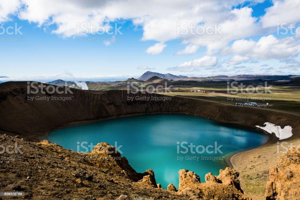 Viti crater at Krafla stock photo