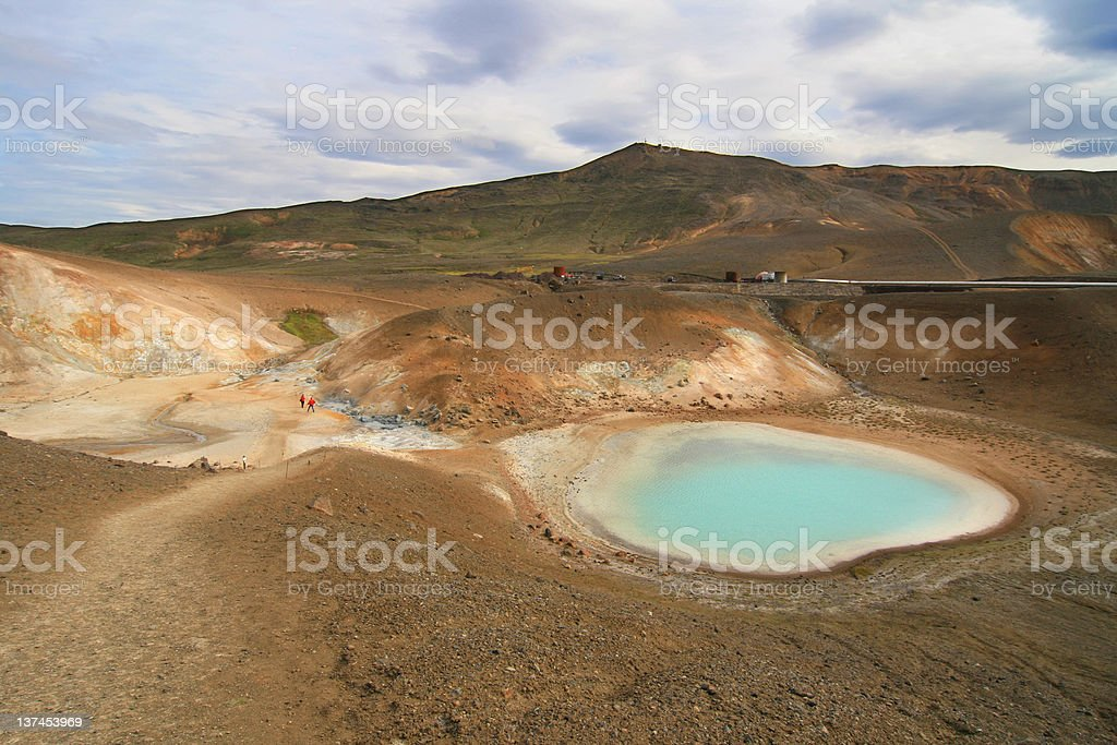 Viti crater hot springs royalty-free stock photo