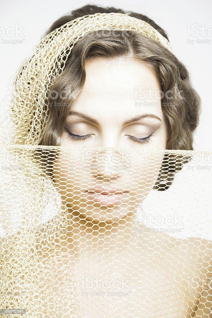 Vitntage beauty royalty-free stock photo