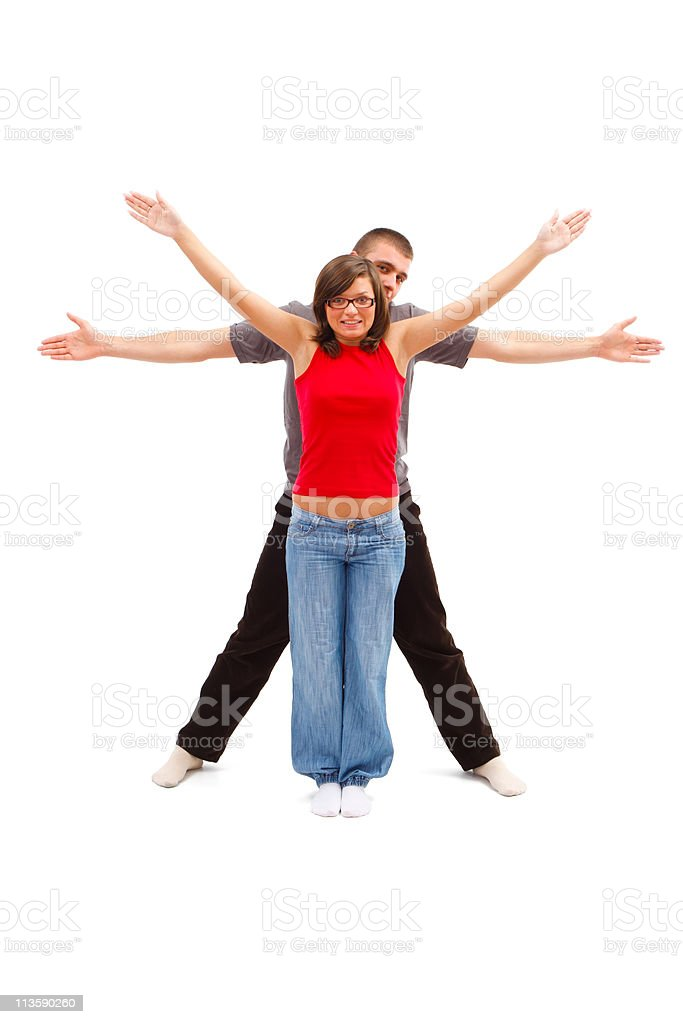 Vitruvian Man - and woman stock photo