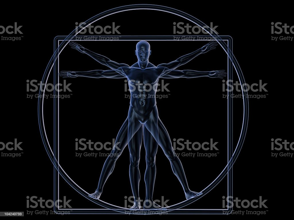 Vitruvian Man royalty-free stock photo