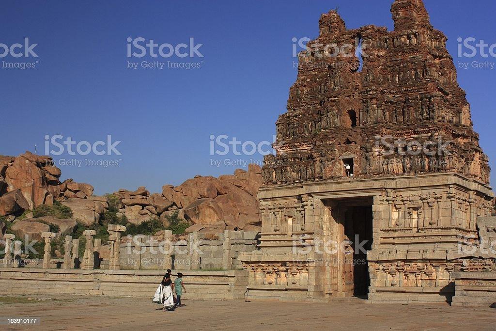 Vittala Temple in Hampi, India. royalty-free stock photo