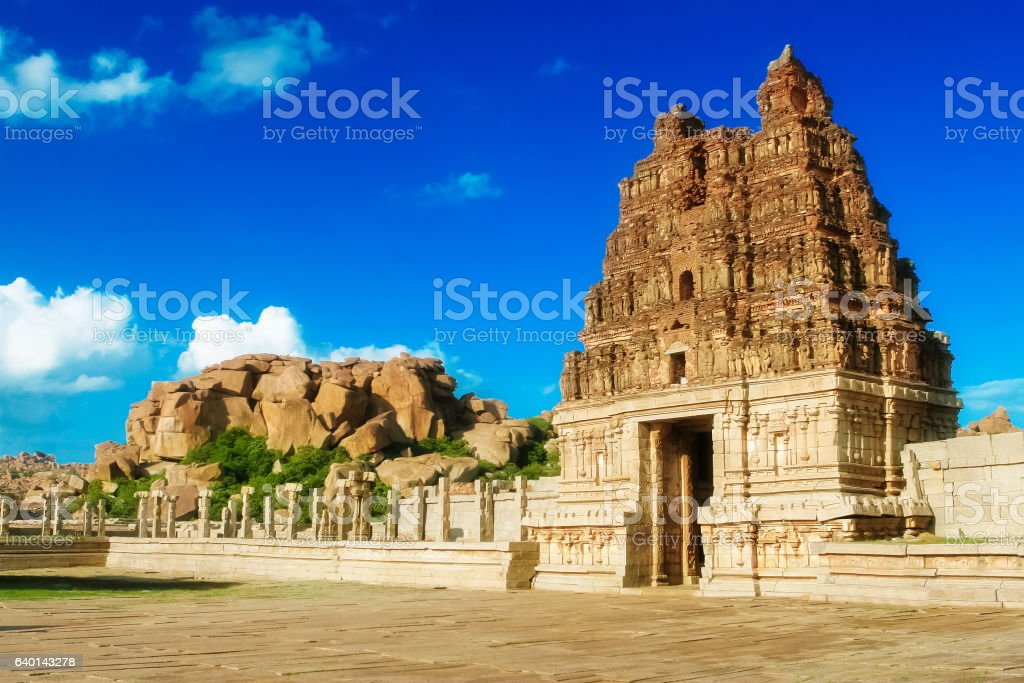 Vittala temple in Hampi, Karnataka province stock photo