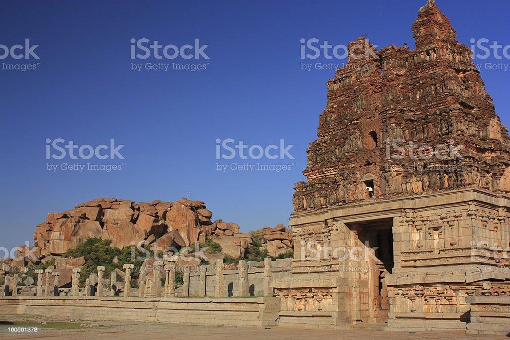 Vittala (Vitthala) Temple in Hampi, Karnataka state, India. royalty-free stock photo
