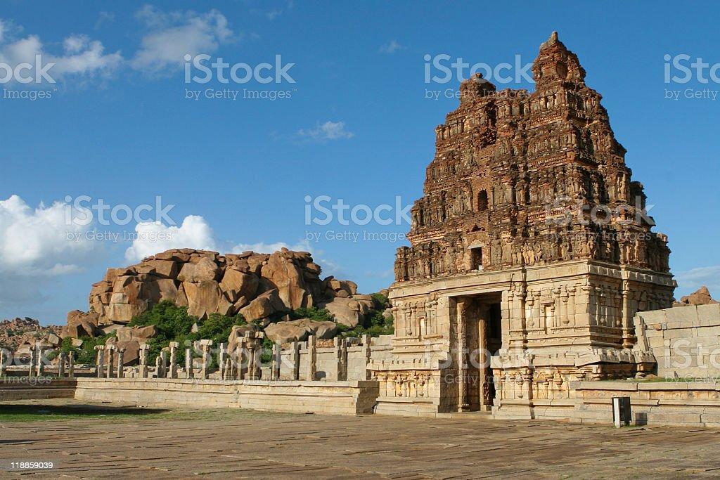 Vittala temple in Hampi stock photo