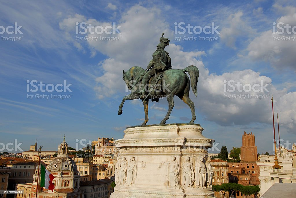 Vittorio Emanuele, first king of Italy stock photo