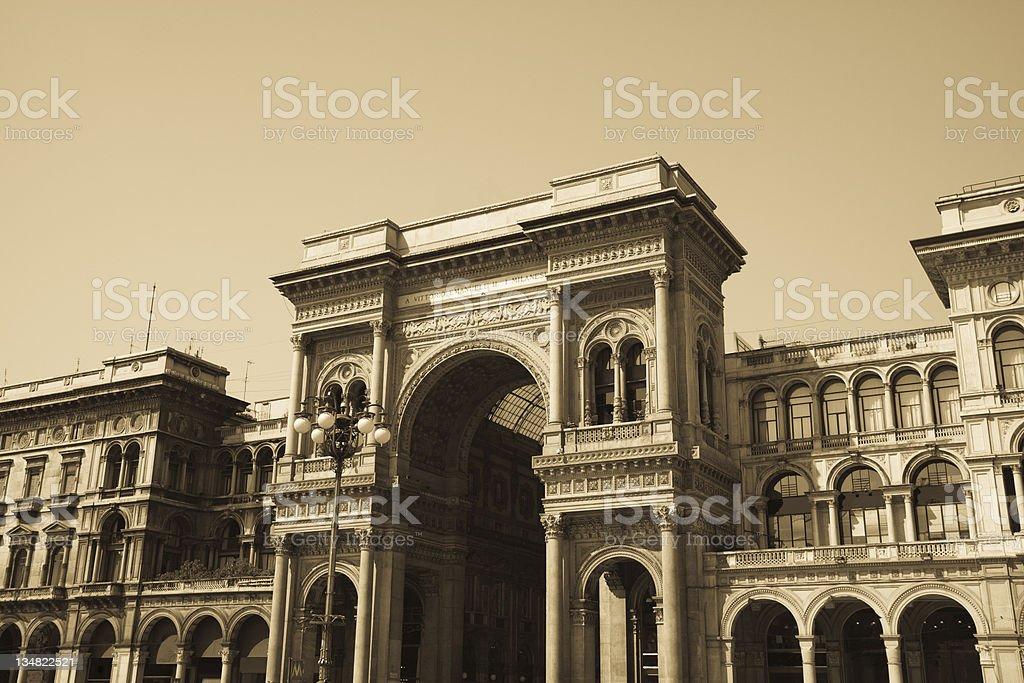 Vittorio Emanuele Gallery - Duomo's Square Milan, Lombardia, Italy stock photo