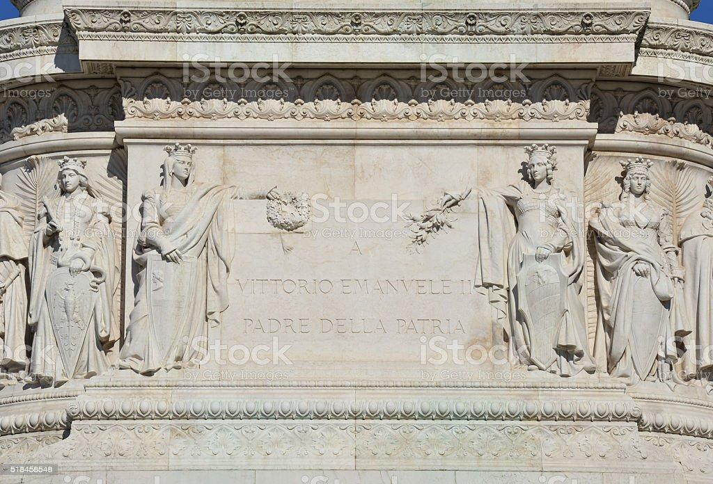 Vittorio Emanuele II, 1st king of Italy dedication stock photo