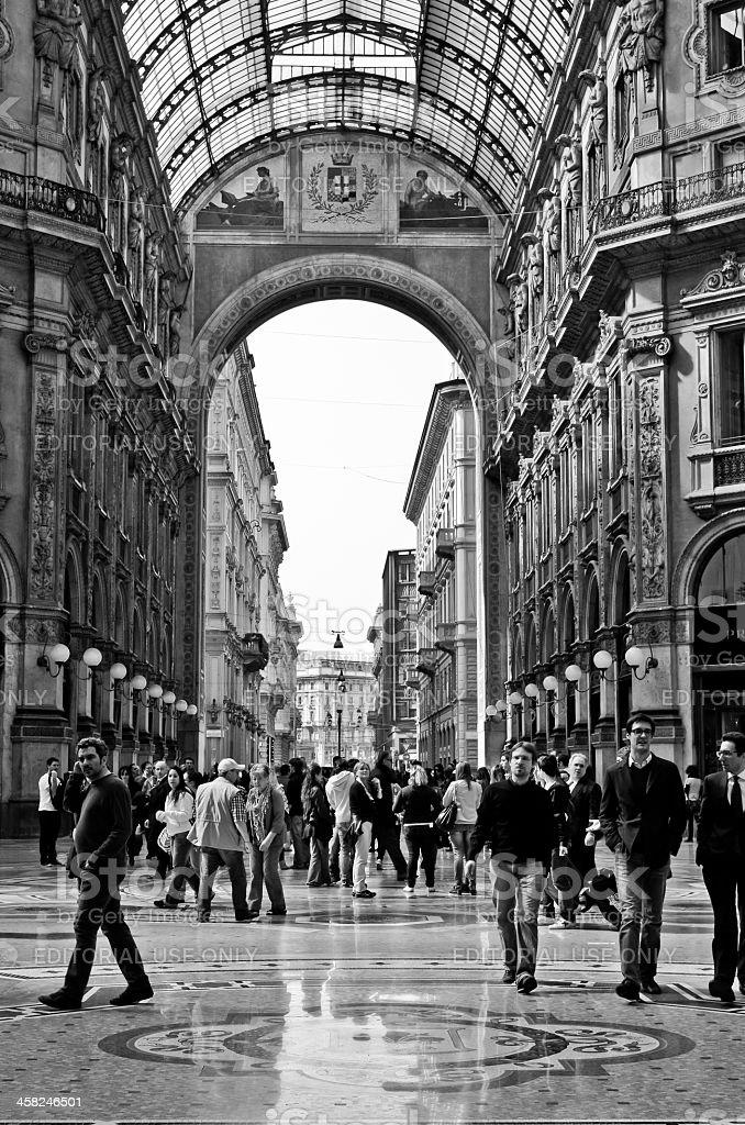 Vittorio Emanuele II Gallery stock photo