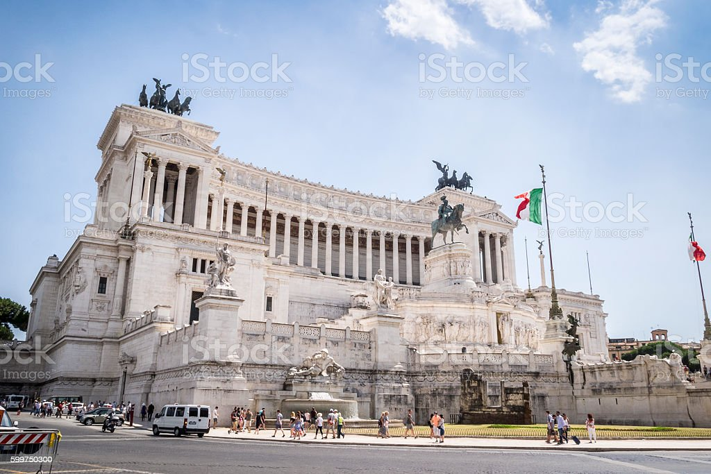 Vittorio Emanuele II monument, Rome, Italy stock photo