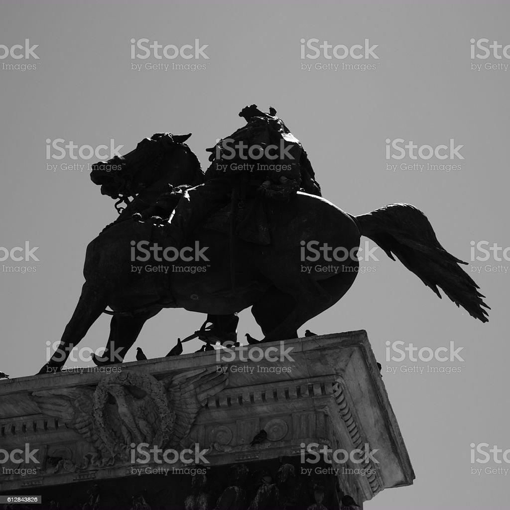 Vittorio Emanuele II statue stock photo
