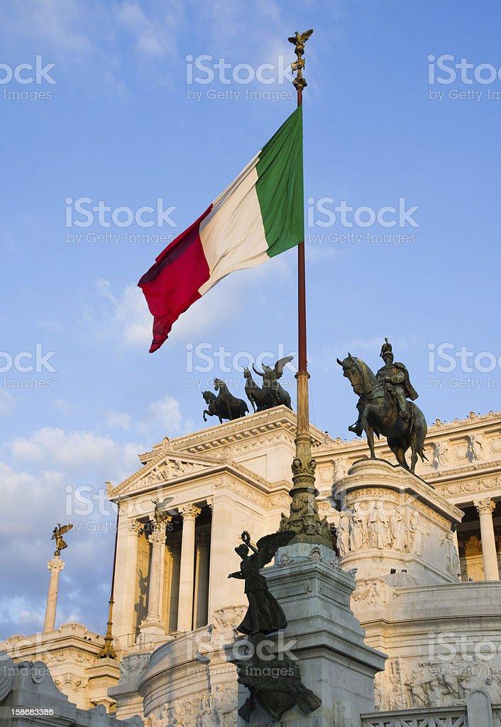 Vittorio Emanuele Monument in Rome, Italy royalty-free stock photo