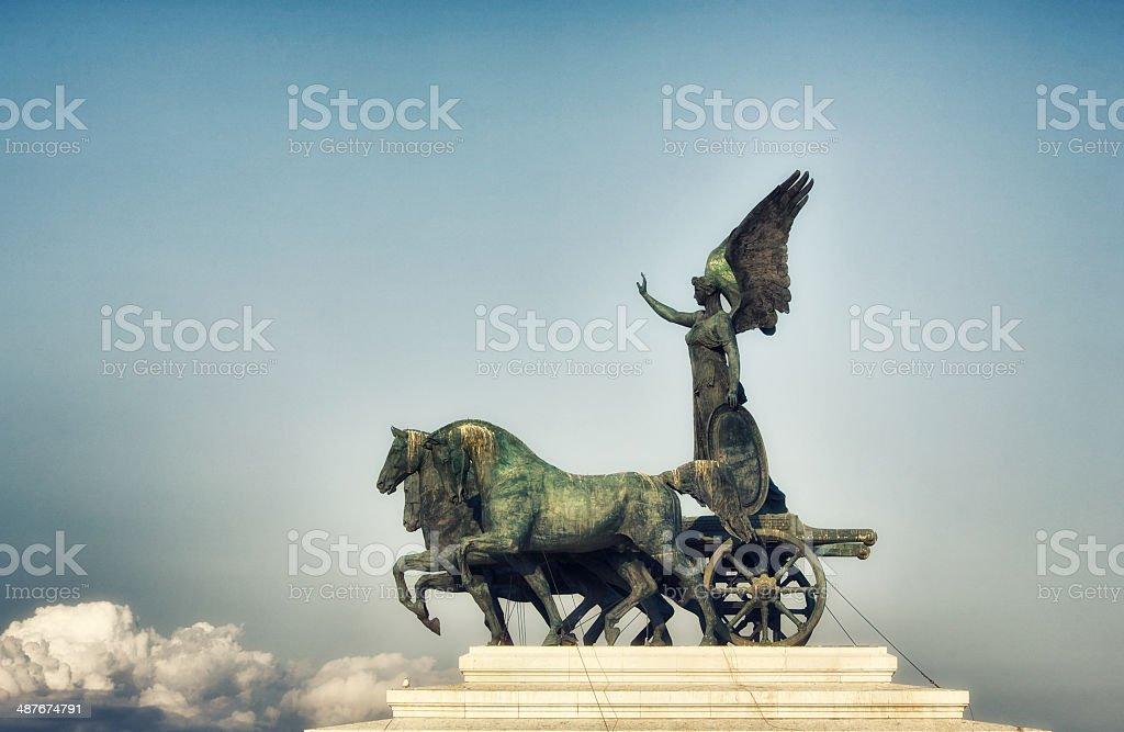 Vittorio Emanuele Monument In Rome stock photo