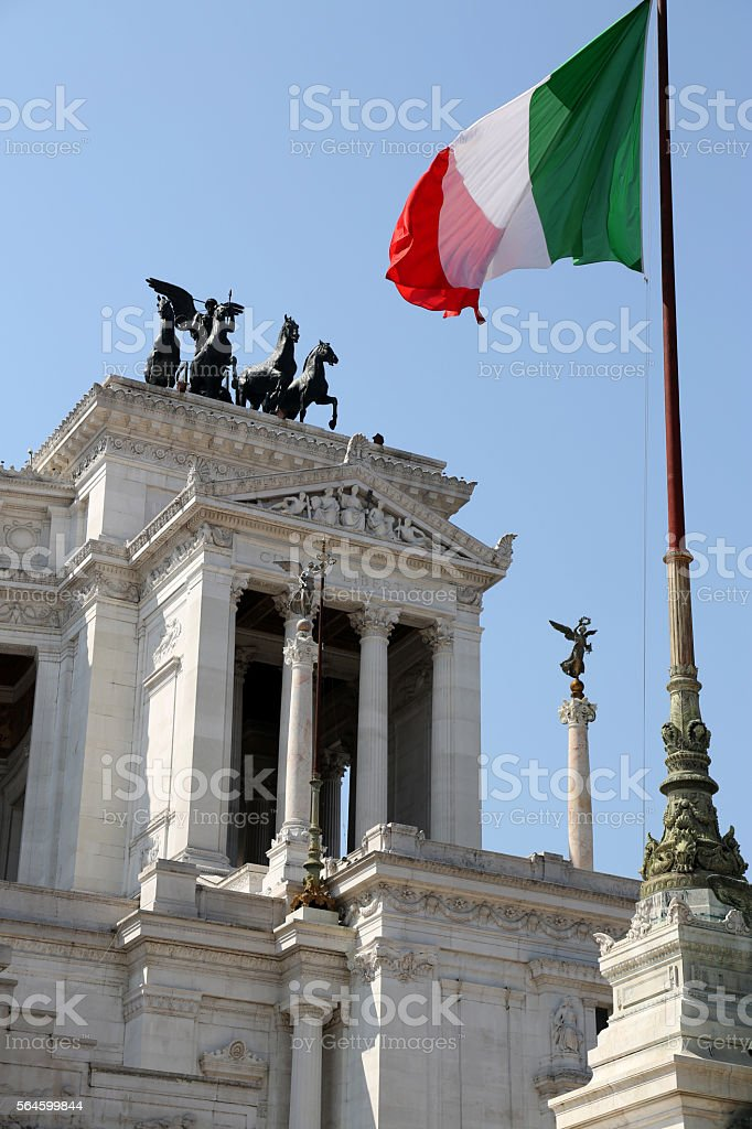 Vittorio Emanuele Monument in Rome stock photo