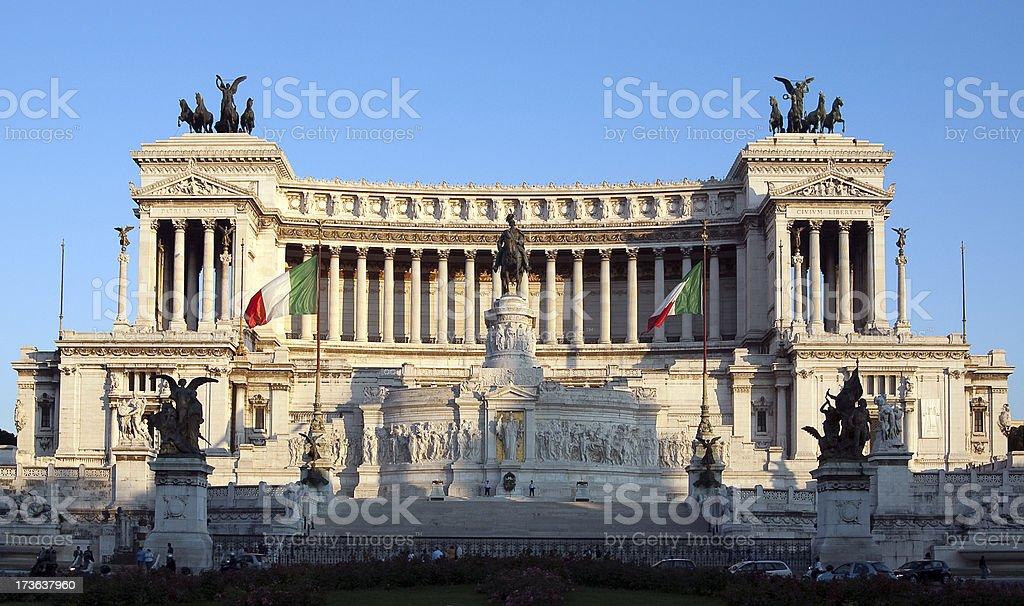 Vittorio Emanuele monument royalty-free stock photo