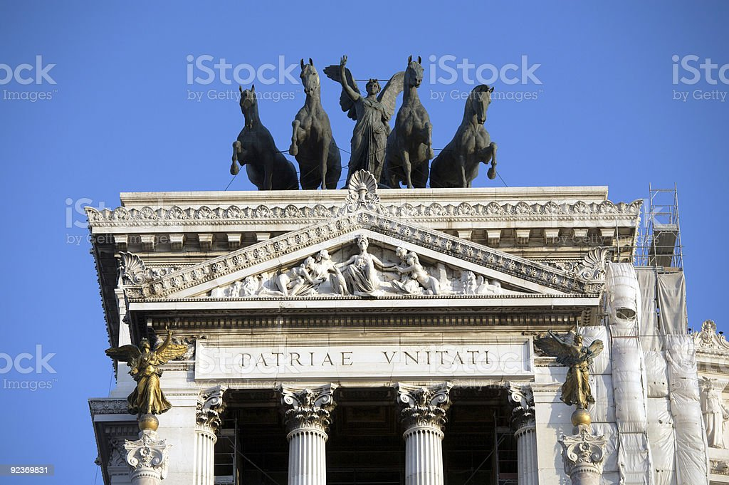 Vittorio Emanuele monument royalty-free stock photo