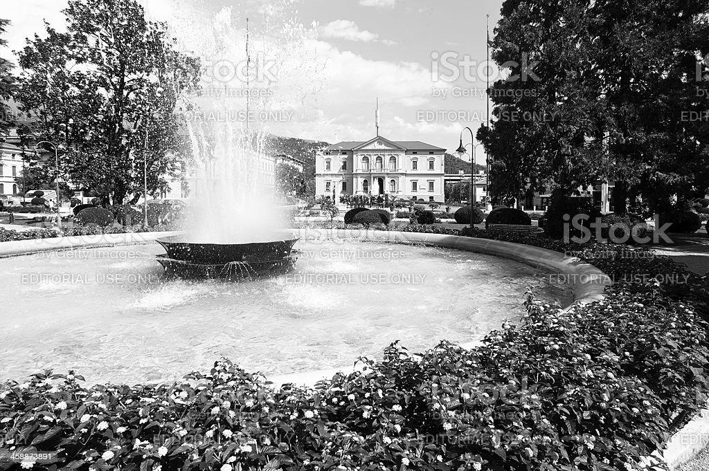 Vittorio Veneto. Black and White royalty-free stock photo