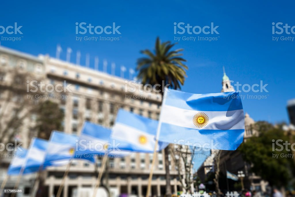 Viva Argentina stock photo