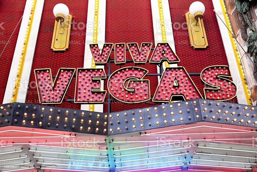 Viva Vegas Sign royalty-free stock photo