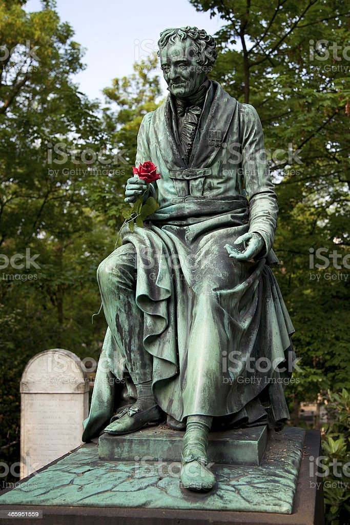 Vivant Denon, monument in the cemetery Pere Lachaise, Paris stock photo