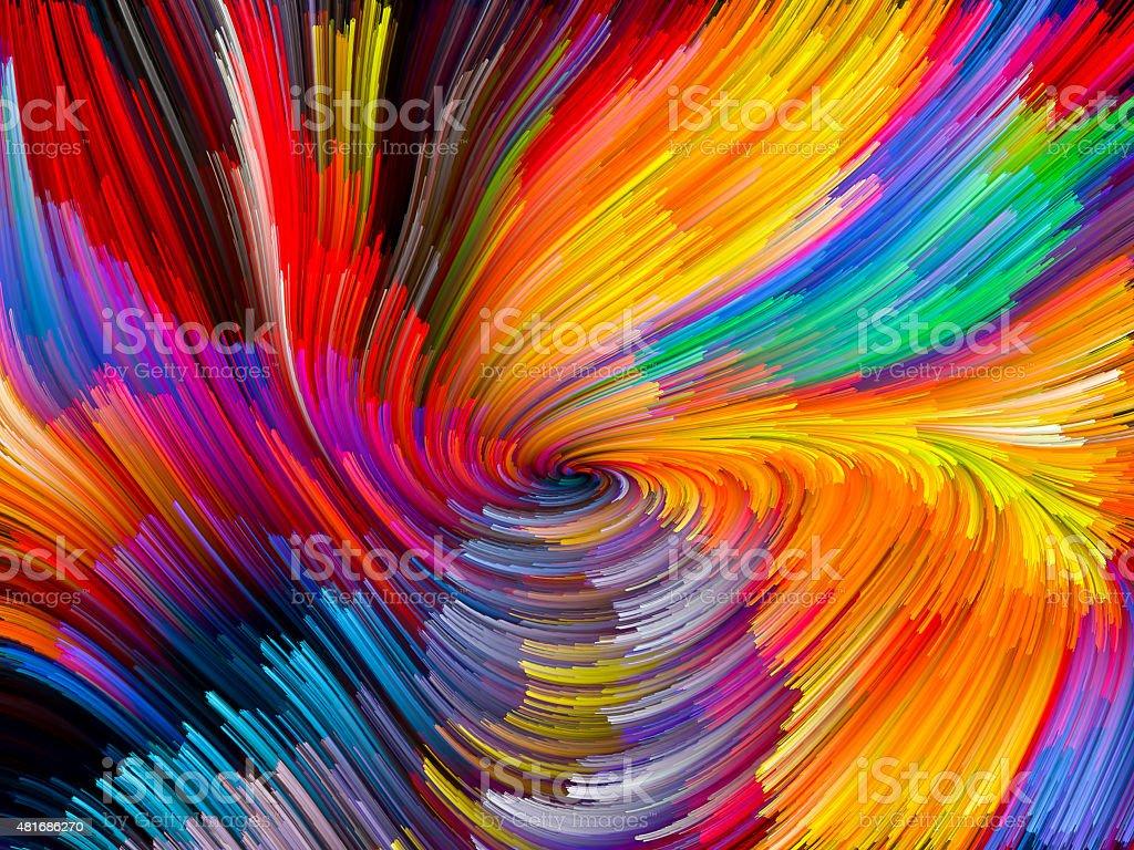 Vivid Color Vortex stock photo