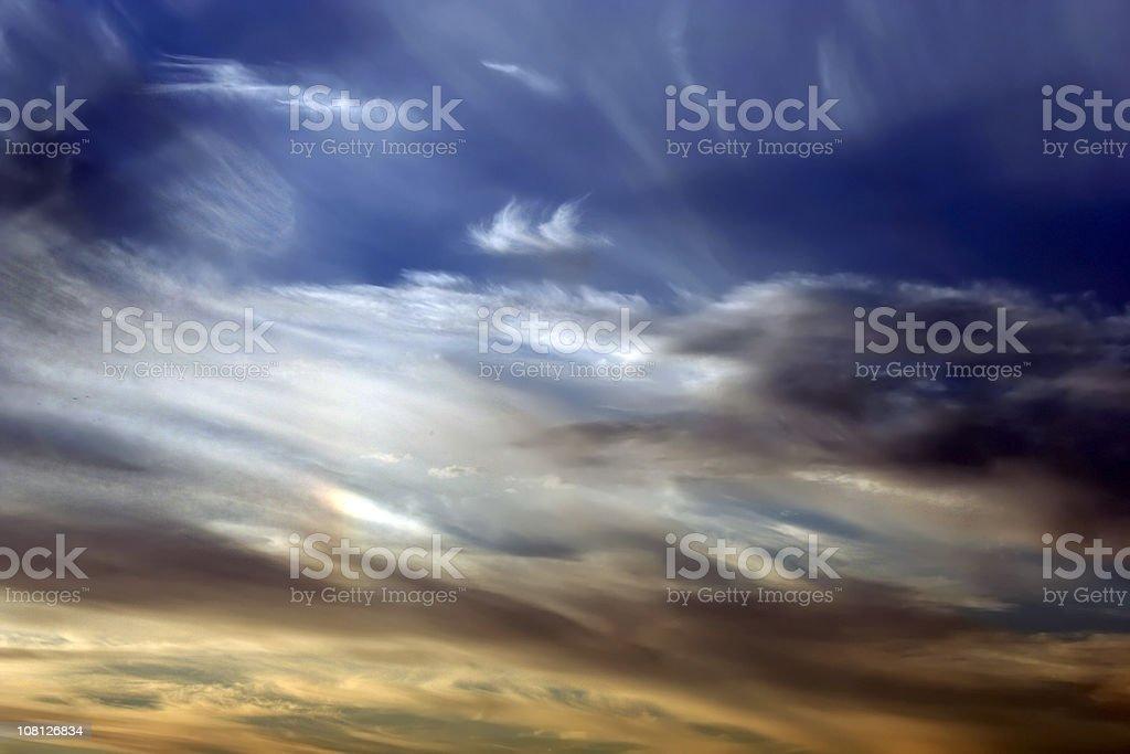 Vivid Colorful Sunset Sky Background royalty-free stock photo