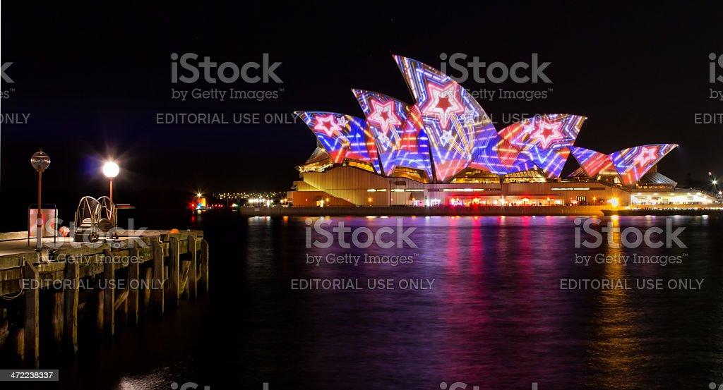 Vivid festival and Sydney Opera House royalty-free stock photo