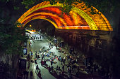 Vivid Festival, Argyle Street, Sydney, Australia