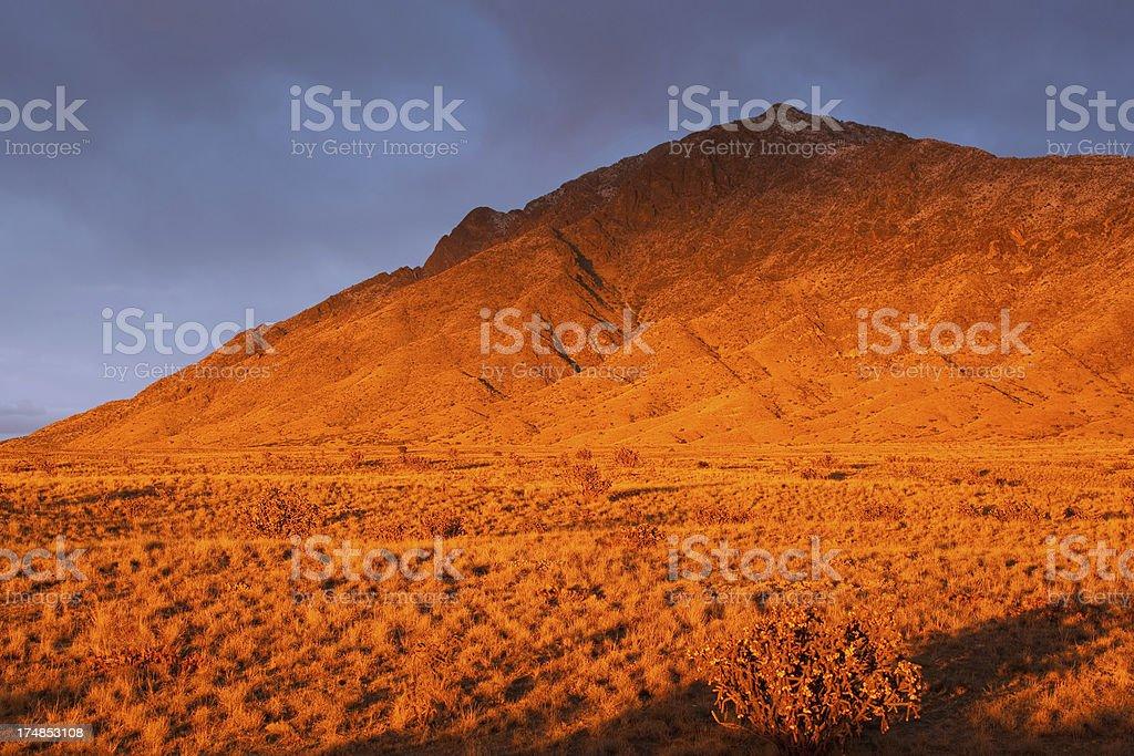vivid landscape mountain sunset royalty-free stock photo