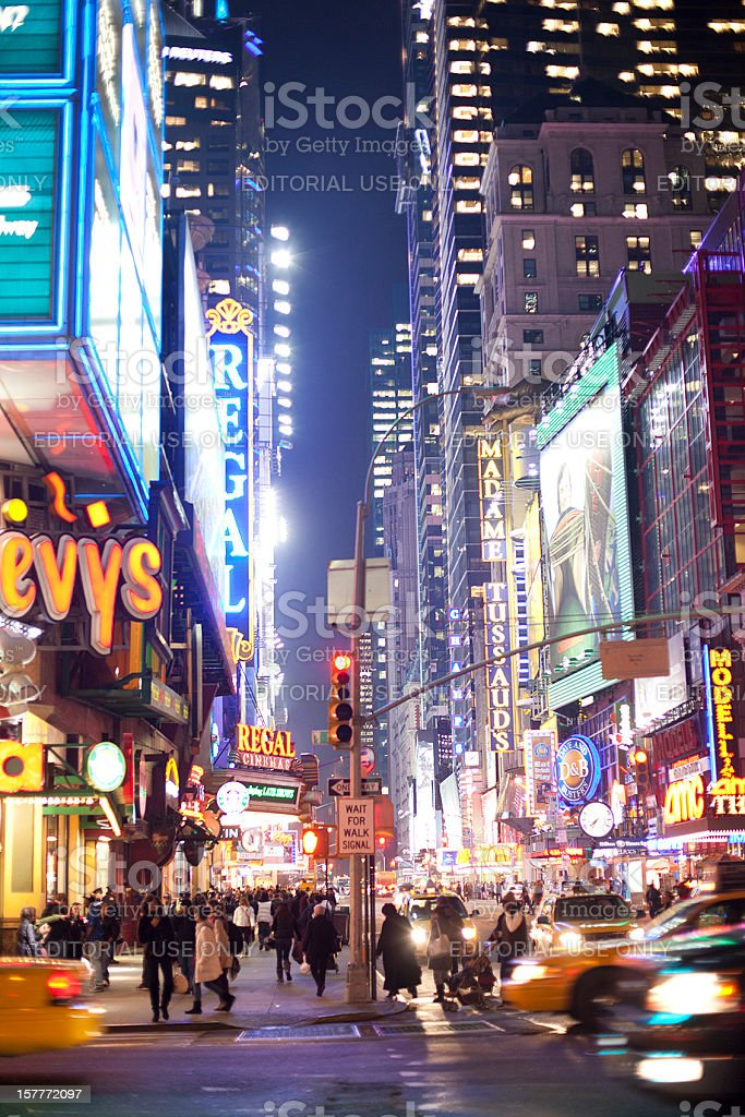 Vivid Lights of Times Square royalty-free stock photo
