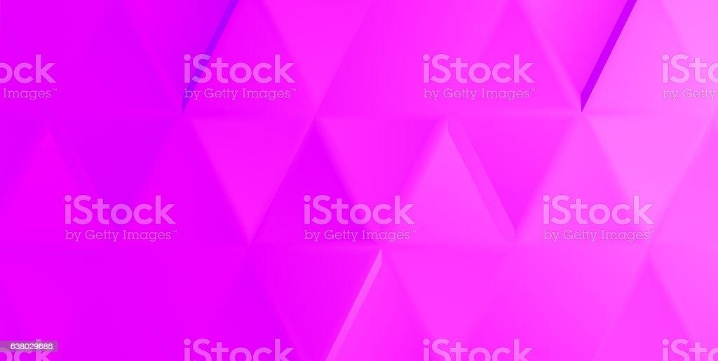 Vivid magenta indented triangles stock photo