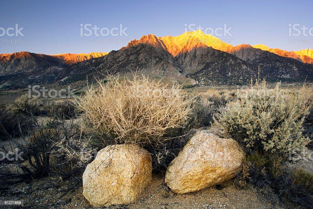 vivid mountain sunrise royalty-free stock photo