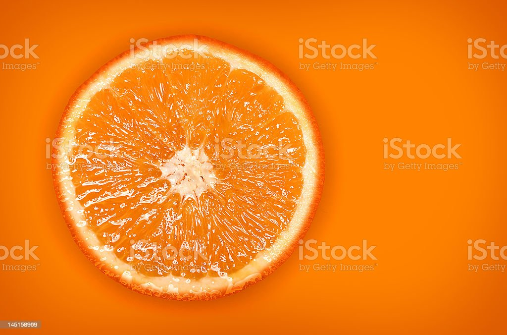 Vivid Orange Slice stock photo