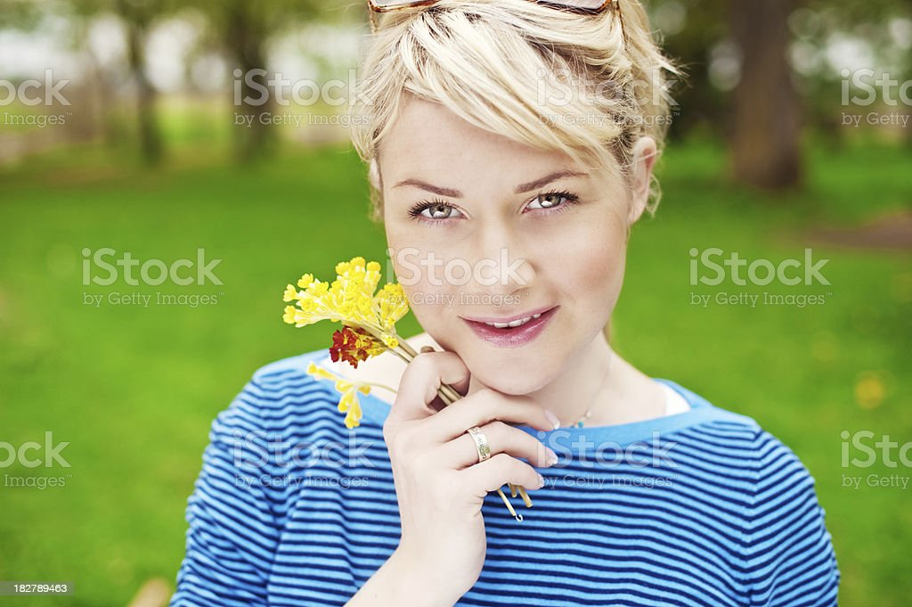 vivid portrait of a woman royalty-free stock photo