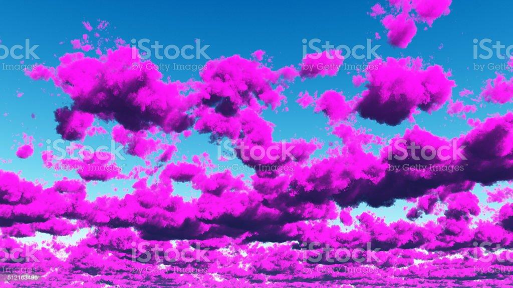 Vivid Purple Cloudscape stock photo